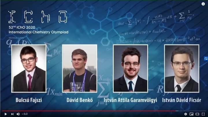 Fazekasos érmek a Nemzetközi Kémiai Diákolimpiáról