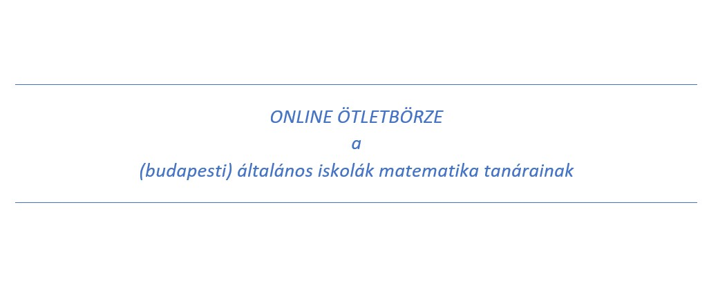 Kedves Matekos Kollégák!